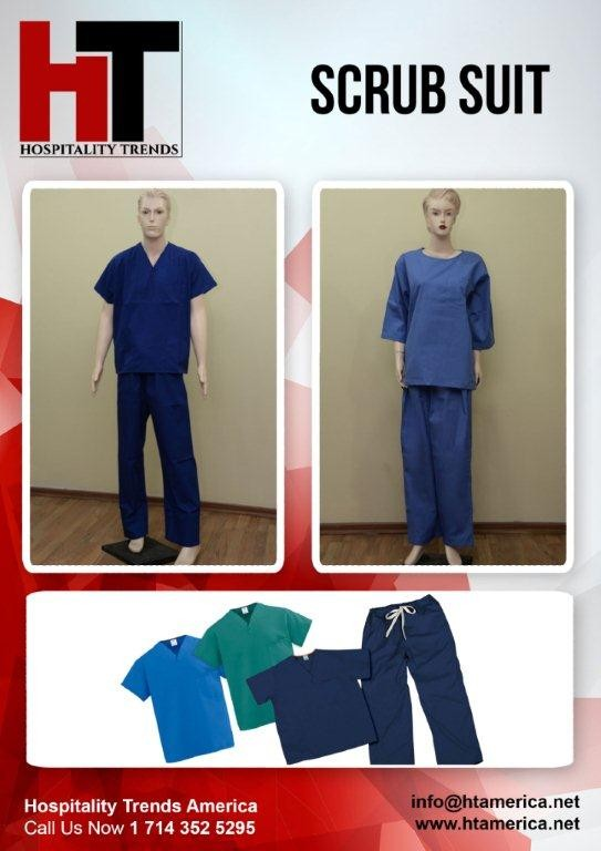 Scrub Suit of different colors on a dummy