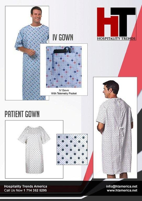 Patient and IV gown
